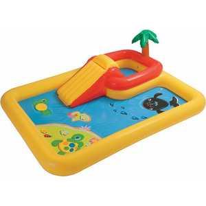Игровой центр-бассейн Intex Игровой центр-бассейн с распылителем и горкой 254х196х79см 57454NP