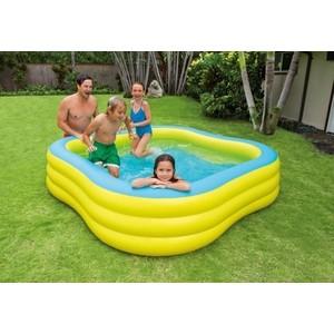Бассейн Intex семейный 229х229х56 см 57495 надувной бассейн intex волны 114 х 25 см от 3 лет с59419
