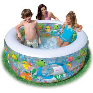Бассейн Intex аквариум с надувным полом 152х56 см 58480NP бассейн intex аквариум с надувным полом 152х56 см 58480np