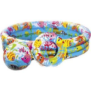 Бассейн Intex 132х28 см с мячом и кругом 59469 надувной бассейн intex бассейн аквариум 152 56см