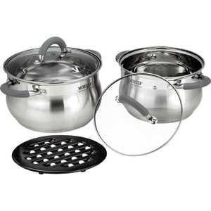 Набор посуды Vitesse VS-2038 набор посуды travola с антипригарным покрытием цвет красный 5 предметов