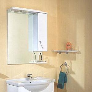 Зеркало-шкаф Aqwella Алина со светильником (Al.02.07) зеркало aqwella империя в раме белое emp 02 10 w