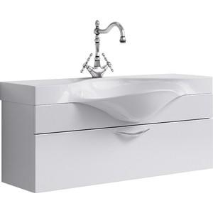 Тумба под раковину Aqwella Бродвей с ящиком белая (Brw.01.10/001/W)