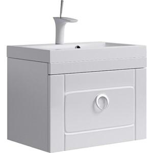 Тумба с раковиной Aqwella Инфинити подвесная с ящиком белая (Inf.01.06/001)  цена и фото