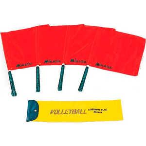 Флаги судейские для волейбола Mikasa BA-17 , комплект из 4 шт. в чехле цена и фото