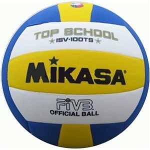 Мяч волейбольный Mikasa ISV100TS, размер 5, цвет бел-жел-син цена и фото