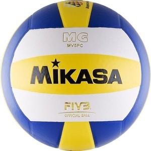 Мяч волейбольный Mikasa MV5PC, размер 5, цвет бел-син-желт мяч волейбольный mikasa isv100ts размер 5 цвет бел жел син