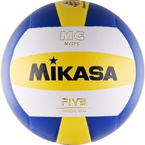 Мяч волейбольный Mikasa MV5PC, размер 5, цвет бел-син-желт мяч волейбольный atemi space бел желт син
