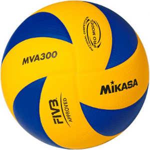 цены Мяч волейбольный Mikasa MVA300, размер 5, цвет сине-желтый