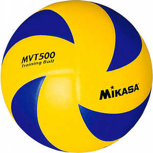 Мяч волейбольный Mikasa MVT500, размер 5, цвет сине-желтый мяч волейбольный mikasa vso2000 размер 5 цвет бел жел син
