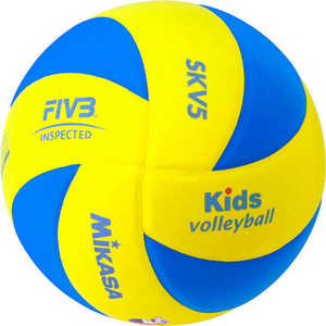 Мяч волейбольный Mikasa SKV5, размер 5, цвет желт-голуб мяч волейбольный atemi space бел желт син