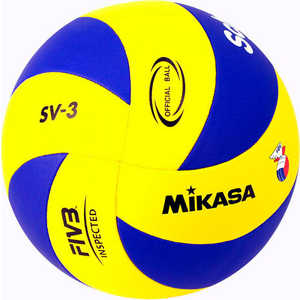 Мяч волейбольный Mikasa SV-3, размер 5, цвет сине-желтый цена