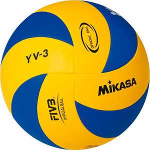 Мяч волейбольный Mikasa YV-3, размер 5, цвет сине-желтый цена