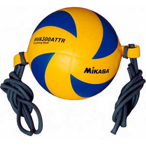 Мяч волейбольный на растяжках Mikasa MVA300ATTR, размер 5, цвет желто-синий