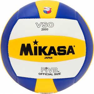Мяч волейбольный Mikasa VSO2000, размер 5, цвет бел-жел-син мяч волейбольный atemi space бел желт син