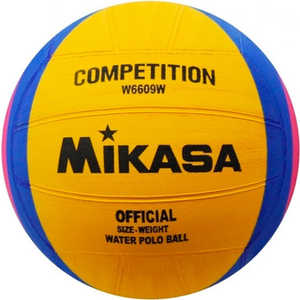 Мяч для водного поло Mikasa W6609W, размер женский, цвет желто-сине-розовый