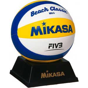 Мяч для пляжного волейбола сувенирный Mikasa VX3.5, цвет бело-желто-синий фабрика прямая кровать mikasa 1 8 м специальный весенний матрас юбка покрывало простыни защиты пакета почты в убыток