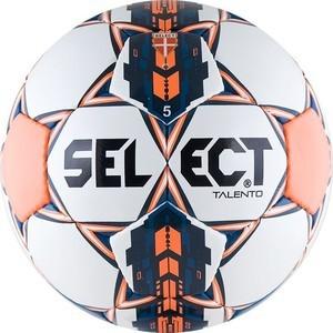 Мяч футбольный Select Talento (811008-006), цвет бел-оранж-сереб-сал мяч футбольный select talento р 4 тренировочный облегченный дизайн 2018г бел зел крас чер