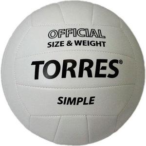 Мяч волейбольный любительский Torres Simple арт. V30105, размер 5, бело-черный мяч волейбольный любительский для пляжа torres beach sand pink арт v30085b размер 5 бело розово мультиколор