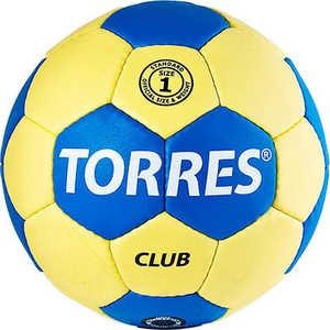 Мяч гандбольный матчевый Torres Club, арт. H30011, размер 1, сине-желтый