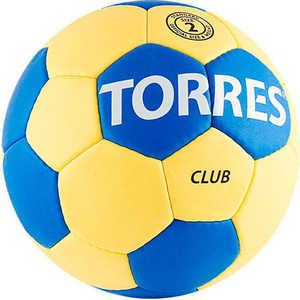 Мяч гандбольный матчевый Torres Club, арт. H30012, размер 2, сине-желтый