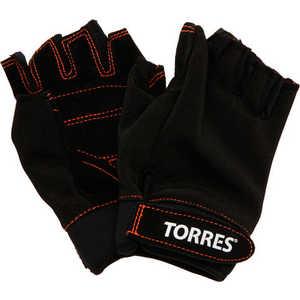 Перчатки тяжелоатлетические Torres (арт.PL6021L), размер L, цвет: черный