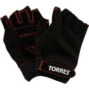 Перчатки тяжелоатлетические Torres (арт.PL6021S), размер S, цвет: черный