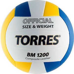 Мяч волейбольный матчевый Torres BM1200 арт. V40035, размер 5, бело-сине-желтый цена