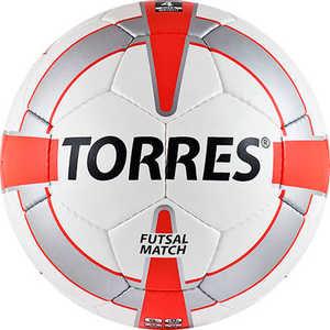 Мяч футзальный Torres Futsal Match, (арт. F30064), размер 4, цвет: бело-серебр-крас мяч футзальный mitre futsal nebula bb1350wbg р 4