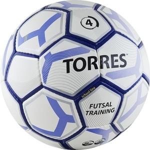 Мяч футзальный Torres Futsal Training, (арт. F30104/F30644), размер 4, цвет: бело-черно-серебр мяч футбольный torres training цвет белый черный желтый размер 5