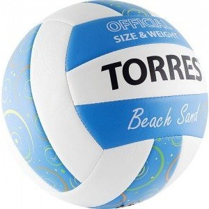 Мяч волейбольный любительский для пляжа Torres Beach Sand Blue арт. V30095B, размер 5, бел-г��луб-мультиколор gem inside coin red coral beads white cat eye black agate dyed green jade blue sand stones blue sand stones marcasite tibetan silve dangle earrings jewelry