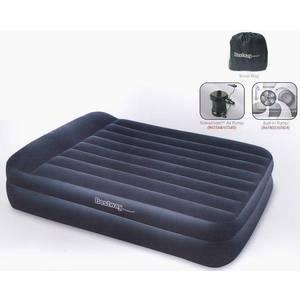 Фотография товара кровать надувная Bestway Premium Air Bed Queen со встроенным насосом 220В (размер 203х163х48 см) арт.67403 (209174)