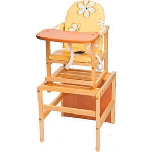 Стол-стул для кормления ПМДК Октябренок (желтые ромашки/дуб/бук) стул трансформер для кормления октябренок ромашки желтый дуб