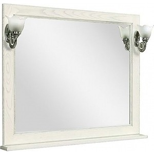 Зеркало Акватон Жерона 105 белое серебро (1A158802GEM20) настенный светильник novotech night light 357327