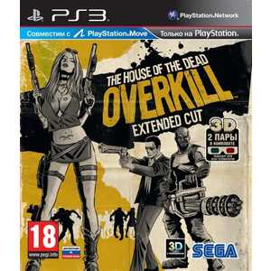 Игра для PS3  Move House of the Dead Overkill Extended Cut (PS3, английская версия)