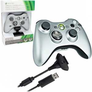 Microsoft XBox 360 Wireless Controller + Play and Charge Kit, black (QFF-00010)