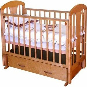 Кроватка Красная звезда ''Виталина'' (красно-коричневая) С851