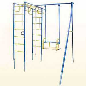 Детский спортивный комплекс Лидер Д2-01 с металлическими качелями