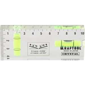 Уровень Kraftool 4х10см Crystal (1-34865-040) плоская кисть kraftool klassik 1 01013 25