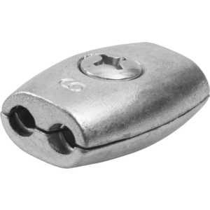 Зажим троса Зубр Бочонок 6мм ТФ5 15 шт (4-304455-06) кантилеверный зажим для троса