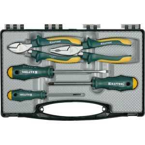 Набор Kraftool губцевые и отверточные инструменты в боксе 5шт (22008-H5)