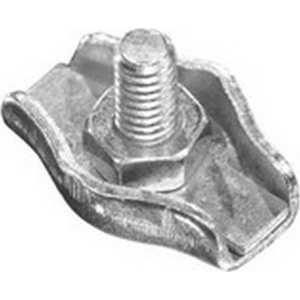 Зажим троса Зубр одинарный оцинкованный 6мм ТФ5 50шт (4-304435-06) кантилеверный зажим для троса