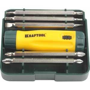 Набор Kraftool отвертка реверсивная Cr-V 6 предметов (26141-H6)