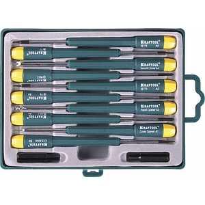 все цены на Набор отверток Kraftool для ремонта мобильных телефонов 12 предметов (25616-H12)