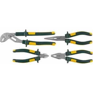 Набор губцевых инструментов Kraftool 4 предмета Kraft-Max Cr-Mo (22011-H4) тонкогубцы kraftool kraft мах 200мм 22011 3 20