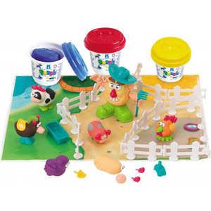 Набор пластилина Playgo Фермер и друзья 8654 всё для лепки lori пластилин классика 16 цветов