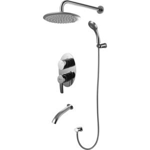 Смеситель для ванны Lemark Atlantiss комплект встраиваемый (LM3222C) верхний душ lemark lm8038c