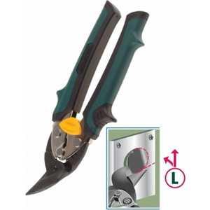 Ножницы по металлу Kraftool 180мм левые Cr-Mo Uni-Kraft (2326-L) бокорезы kraft max 180мм kraftool 22011 5 18