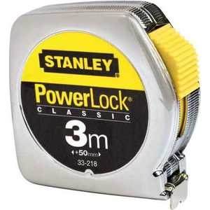 Рулетка Stanley Powerlock 3м (0-33-218) stanley powerlock 5m 0 33 194 рулетка silver