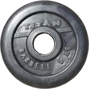 Диск обрезиненный Titan 51 мм 5 кг черный диск обрезиненный titan 26 мм 5 кг черный